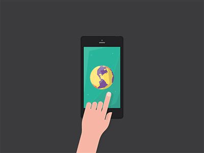 Hand and phone animation