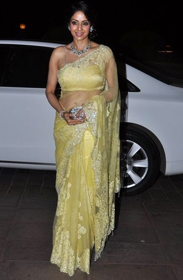 The then 49-year-old doesn't shy away from sexy saris, December 2012.