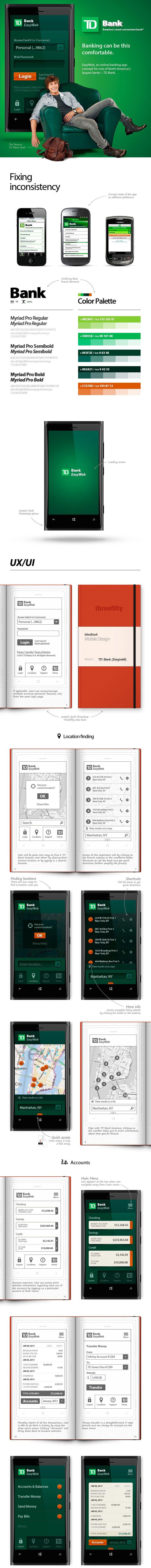 TD Bank Easy Web App UX/UI Design