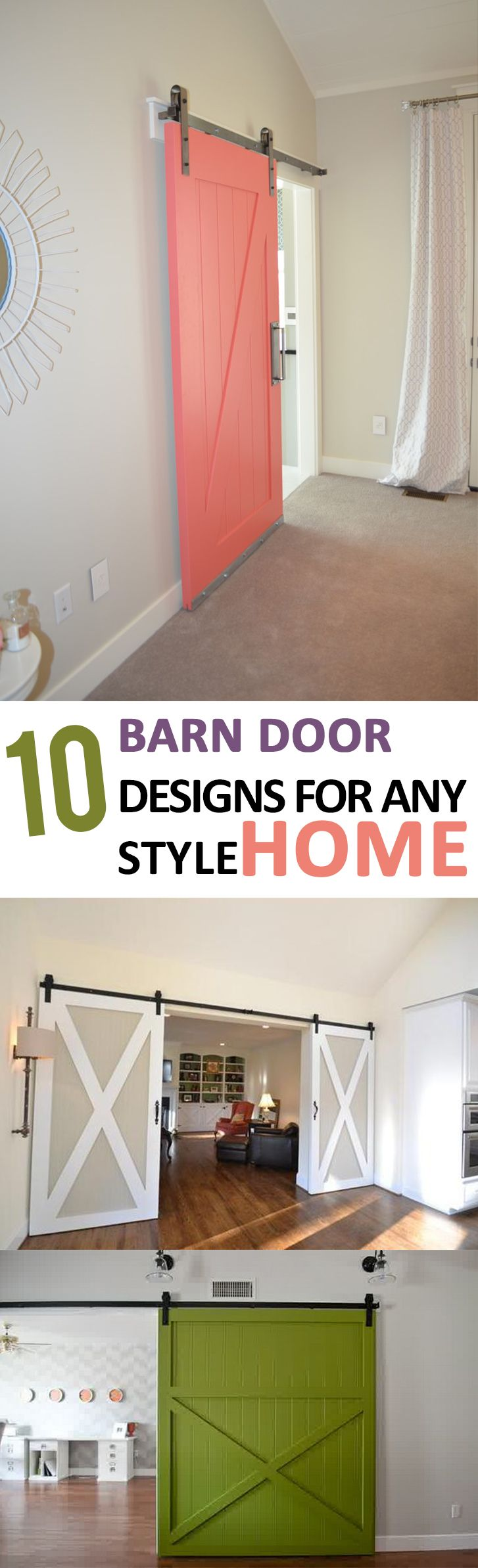 Bring a stunning barn door into your home!