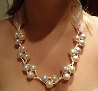 Pearl and Ribbon Knotted Necklace Tutorial Shows the Power of 3 - The Beading Gem's Journal