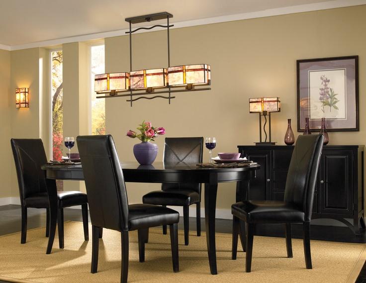 Kichler 65308 3 Light Tacoma Art Glass Island/Billiard Fixture · Dining Room  ...