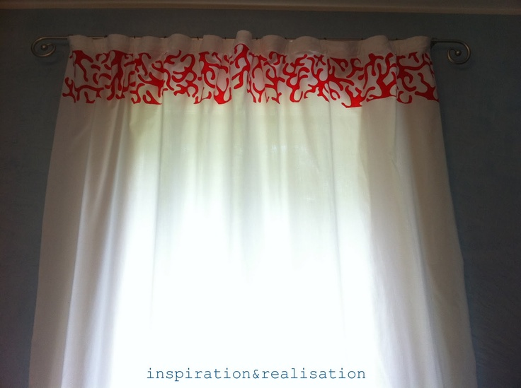Inspiration And Realisation: DIY Fashion Blog: Coral: Curtain U0026 Towels