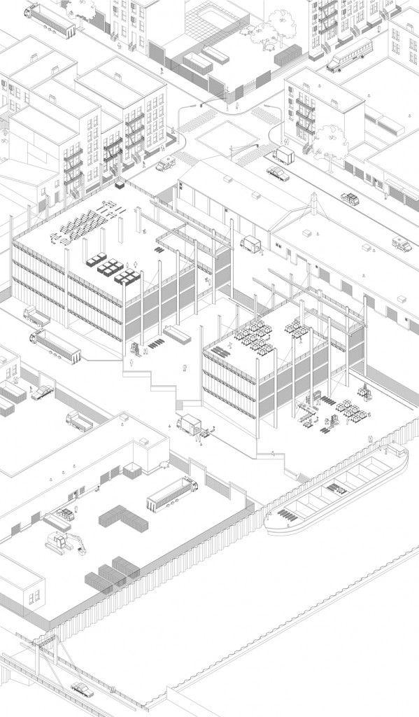Hannes Van Damme: Streetscape as Industrial Space, Gowanus, Brooklyn, New York vía www.q9magazine.com