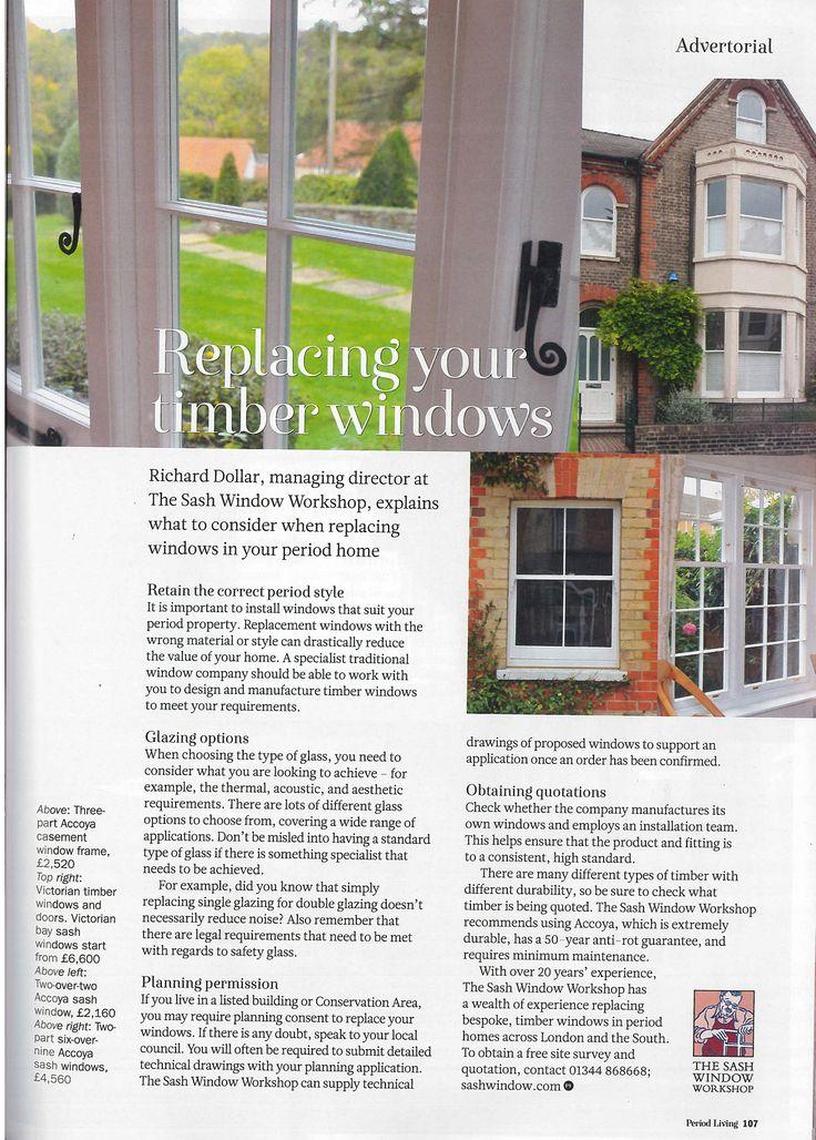 The Sash Window Workshop Featured in Period Living Magazine
