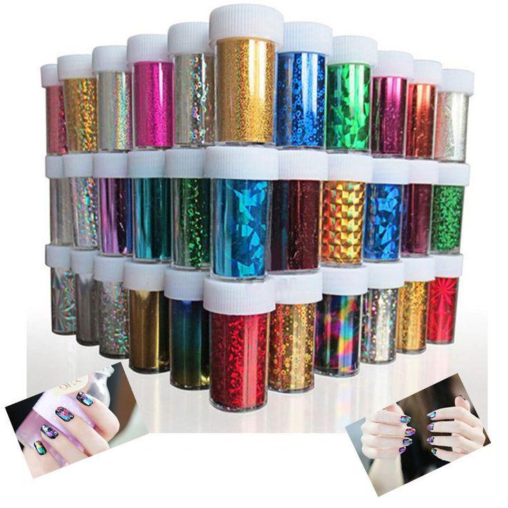 46 Designs Nail Art Transfer Foils Sticker,12pcs/lot Hot Beauty Free Adhesive Nail Polish Wrap,Nail Tips Decorations Accessories $8.50
