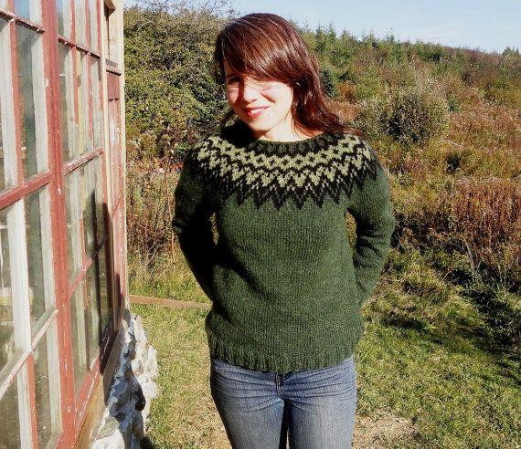 Icelandic Sweater / Lopapeysa Women Size xs/s by Waysofwoodfolk