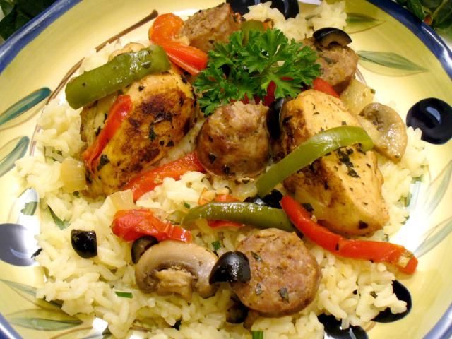 Chicken, Sausage and Black Olives Recipe.  Mix Up These Odd Ingredients To Make The Most Flavorful Chicken Ever