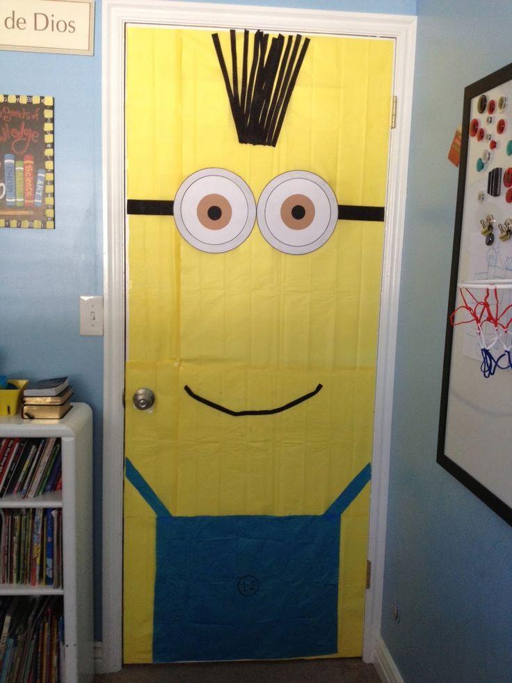 DIY door decor | Minion decorations, Minions birthday ...