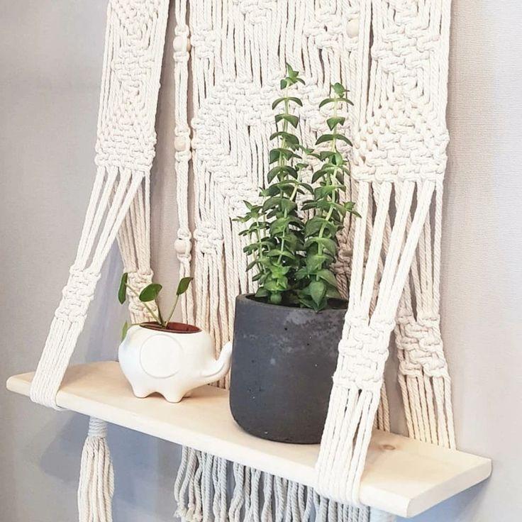 Macrame wall hanging shelf ps002 in 2020 wall hanging