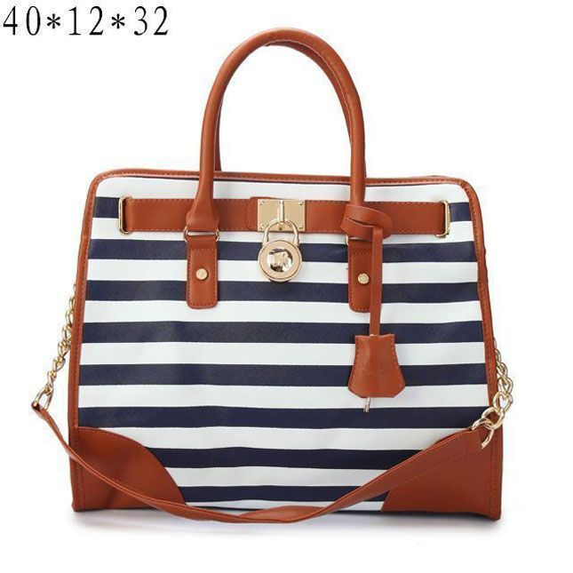 Cheap Michael Kors Striped Lock Large Navy Totes Clearance Michael Kors Bags  for Cheap Prices.