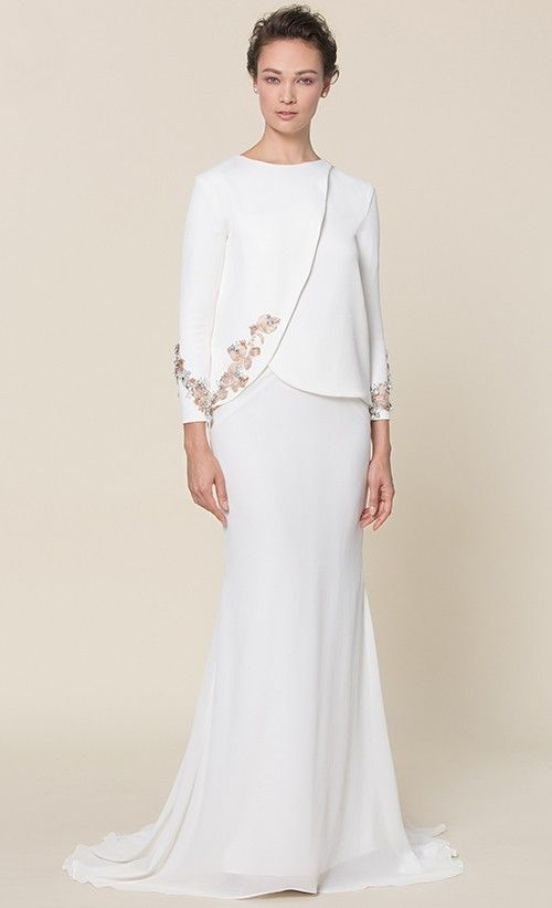 Odette Modern Kurung in White - Mimpikita - FV Bridal | FashionValet
