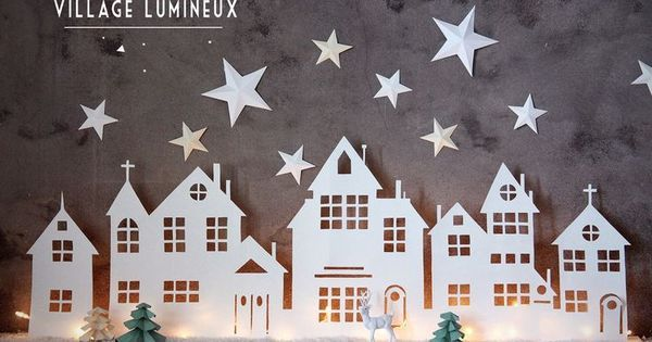 Christmas villages, Templates and Diy christmas on Pinterest