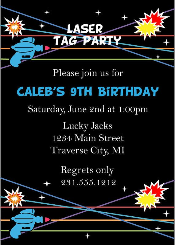 14 best laser tag party images on pinterest | laser tag party, Party invitations