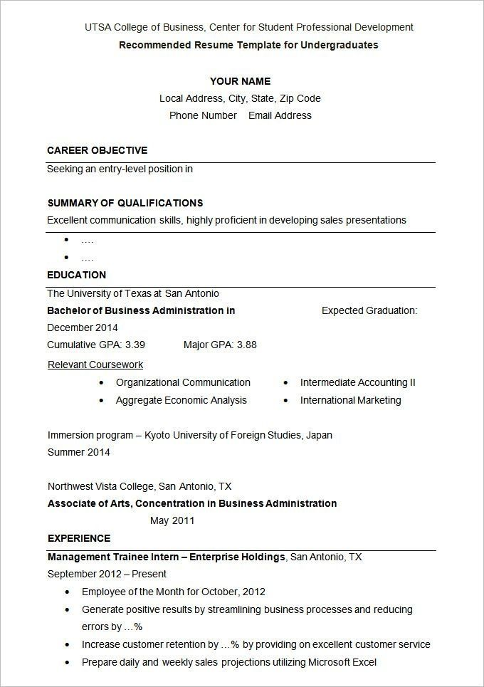 Resume Examples University Examples Resume Resumeexamples