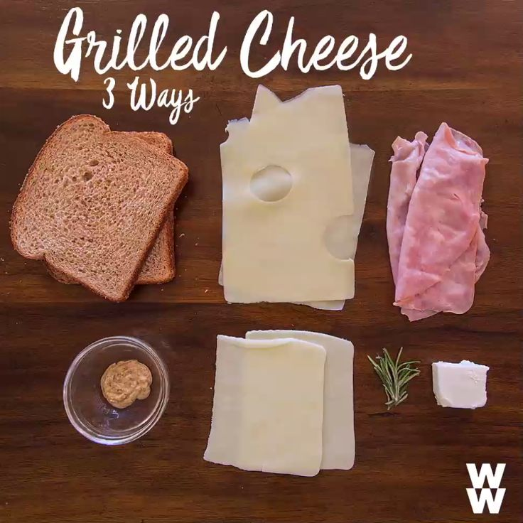 Enjoy more of the foods you love while still staying on track: like these 3 gooey, crunchy grilled cheese sandwiches. Tap to get more of your favorite recipes.