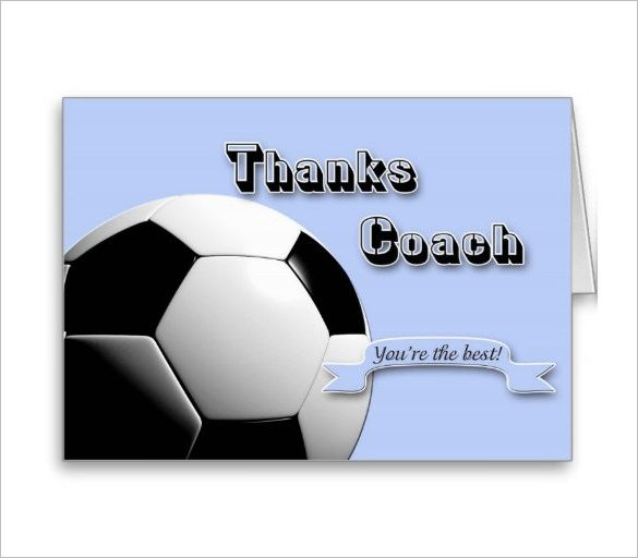 soccer thank you card template