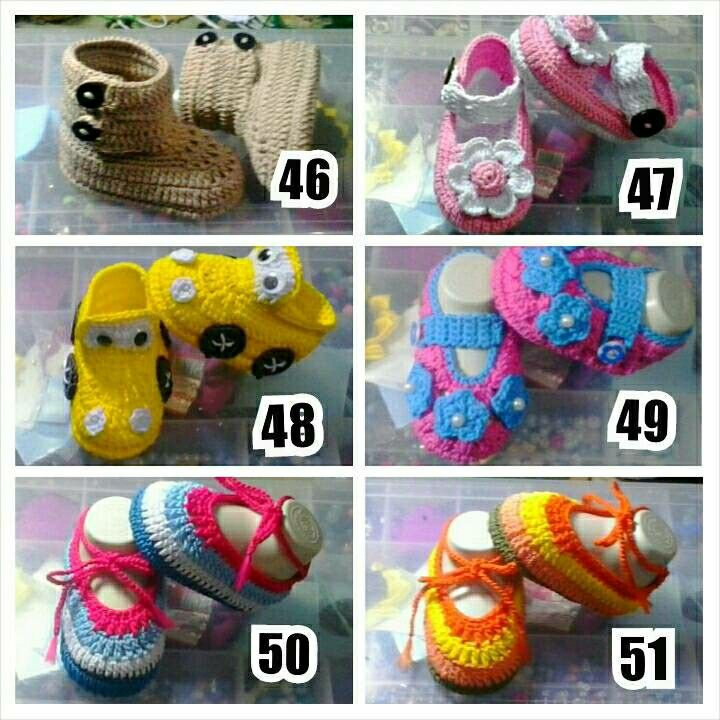 Crochet babyshoes