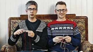 Arne and Carlos - Norwegian knitting couple! The craft of knitting knows no gender.
