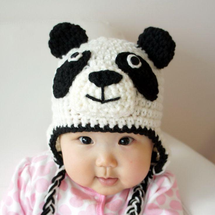 Panda Hat, Panda Bear, Crochet Baby Hat, Baby Hat, Animal Hat, Black, White, photo prop, kung fu panda, Pablo Sandoval. $24.99, via Etsy.