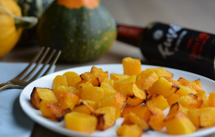 Roasted pumpkin cubes with Fused Cheeky Chilli soy sauce. For recipe www.facebook.com/fusedbyfionauyema