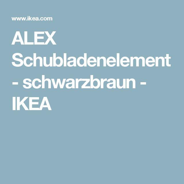 ALEX Schubladenelement - schwarzbraun  - IKEA