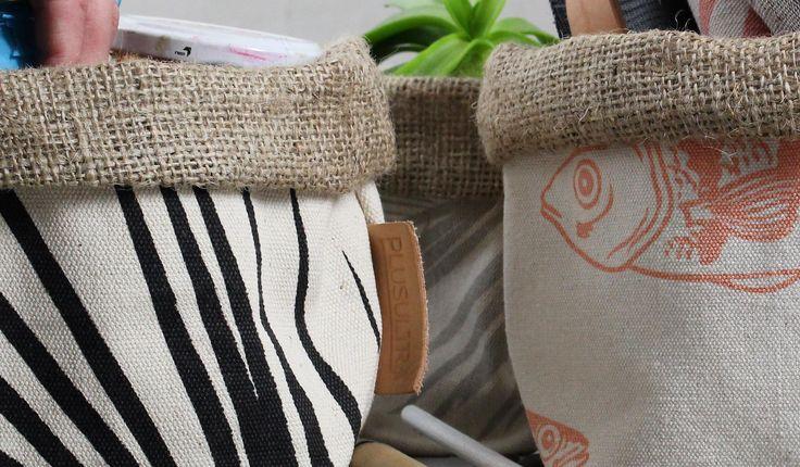 | CONTENEDOR CHICO | estampa artesanal | + info en www.plusultra.com.ar