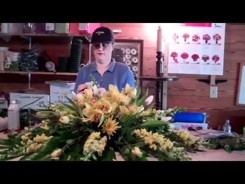 A peek inside the flower barn as I make a casket spray... - YouTube