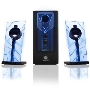 GOgroove: BassPULSE Glowing Blue LED Computer Speaker Sound System Home theater set up for serious listening and entertainment. Premium 2.1 channel speaker system with full-range satellite speakers & side-firing subwoofer for powerful, clear audio with your Dell , ASUS , Lenovo , Apple , Alienware , Samsung , CyberpowerPC and More. http://awsomegadgetsandtoysforgirlsandboys.com/gogroove/ GOgroove: BassPULSE Glowing Blue LED Computer Speaker Sound System