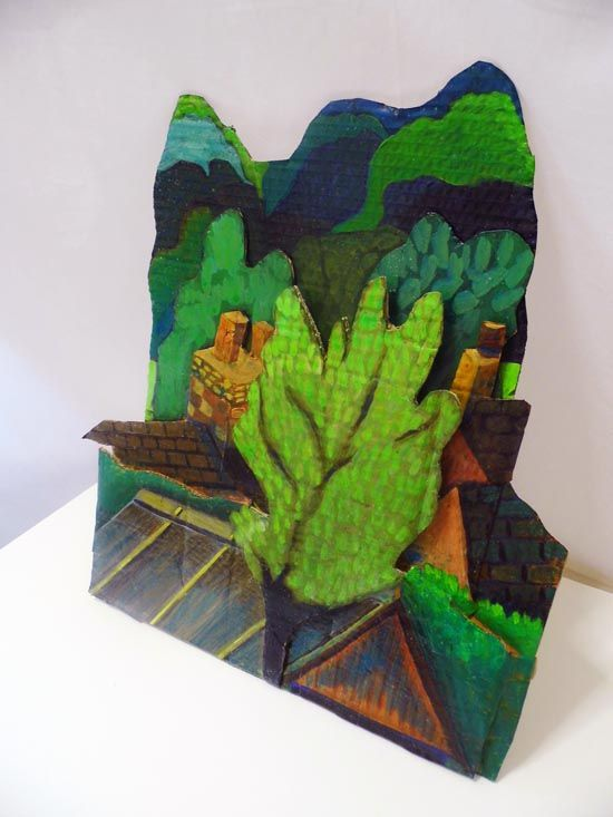 Emma's 'Layers in the Landscape' Relief Exemplar