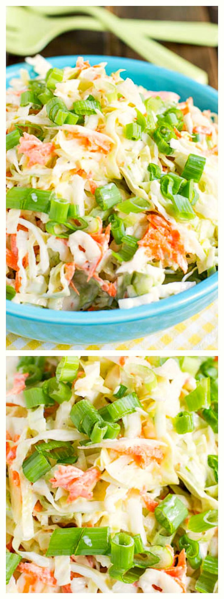 Buttermilk Coleslaw- the perfect balance of tanginess and sweet.