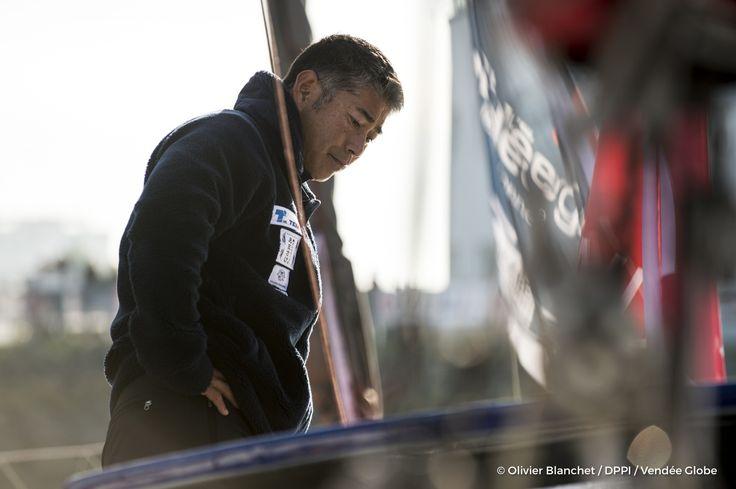 Kojiro Shiraishi (JAP), skipper Spirit of Yukoh, on pontoons of the Vendee Globe, in Les Sables d'Olonne, France, on November 2nd, 2016 - Photo Olivier Blanchet / DPPI / Vendée Globe Kojiro Shiraishi (JAP), skipper Spirit of Yukoh, sur les pontons du Ve