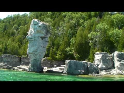 9 - Bruce Trail – Great video of Flowerpot Island  - Georgian Bay, Ontario  Great summer place to camp