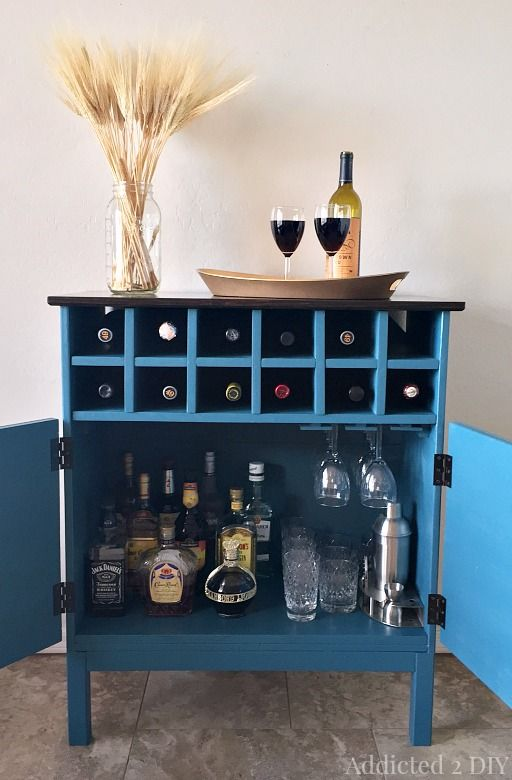 ikea tarva hack chest to bar cabinet, kitchen cabinets, kitchen design, painted furniture