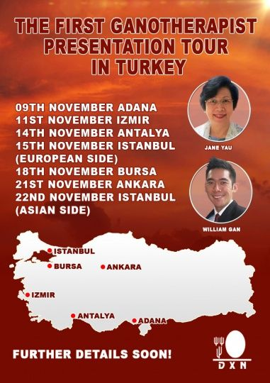 Ganoderma Coffee Club: Ganotherapy in Turkey Registration DXN Turkey  Click here: https://eworld.dxn2u.com/