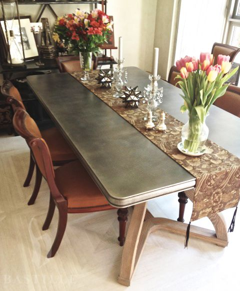 Best Zinc Table Tops Images On Pinterest Zinc Table Dining - Zinc dining room table