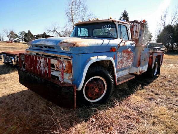 1962 Chevrolet Wrecker Holmes 600 Twin Boom Rig http ...