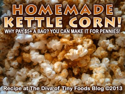 EASY HOMEMADE KETTLE CORN RECIPE for Caramel Popcorn Day! Click the image for the recipe!