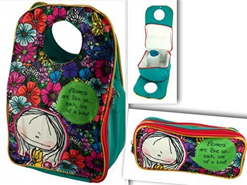 #3 #Item Bundle: #Cutest #Travel #Insulated #Lunch #Tote #Bag w/ #Zipper #Compartment | #1 #Water #Bottle | #1 #Matching #Pencil or #Play #Makeup #Storage #Case - #Satin #Vinyl #Canvas, #Christmas #Gifts for #Girls A beautiful back to school #bundle for any little girl includes every essential component for starting the school year- a durable and quality #lunch box with its 500ml #water #bottle. This durable and quality #bundle is the perfect gift for any Hablando Sola fan or