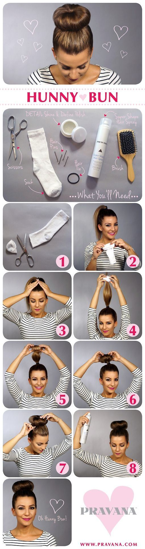 Use a sock to get that poofy bun! :)  #beauty #diy #hair