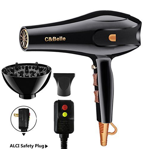 Hair Dryer Professional Ionic Hair Blow Dryer with Concentrator Diffuser 1875w Blow Dryers for Curly and Straight Hair. For product & price info go to:  https://beautyworld.today/products/hair-dryer-professional-ionic-hair-blow-dryer-with-concentrator-diffuser-1875w-blow-dryers-for-curly-and-straight-hair/