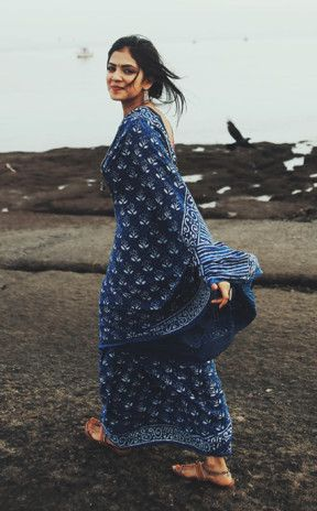 easy breezy cotton, hand-printed #Saree ♥ love it completely via @topupyourtrip