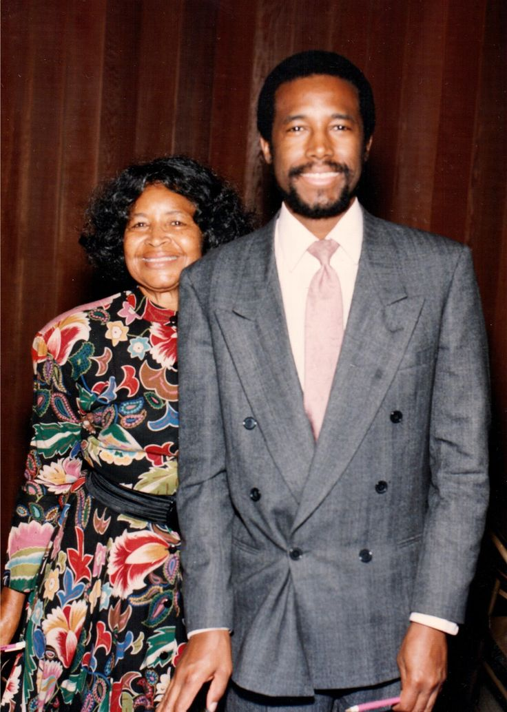 Ben Carson With The Most Influential Person In His Life Mother Sonya