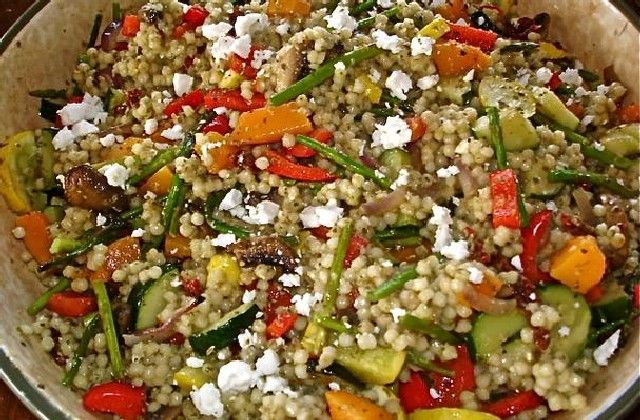 ... Monday: Israeli Couscous with Roasted Vegetables - Foodista.com