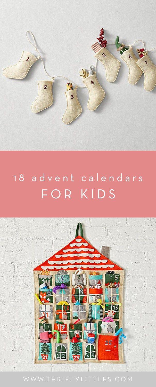 Eighteen Advent Calendars for Kids | Thrifty Littles