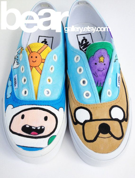 Custom Vans Adventure Time by beargallery on Etsy, $149.00