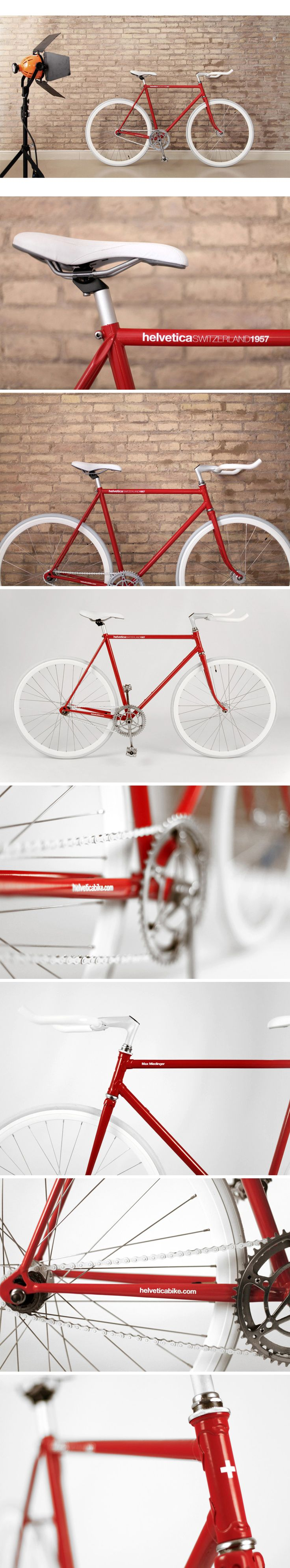 Helvetica Bike / By Borja Garcia...Love it, cannot get simple than this.