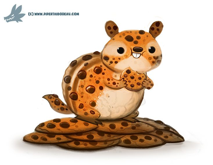 Daily Paint #1158. Chocolate Chipmunk by Cryptid-Creations.deviantart.com on @DeviantArt