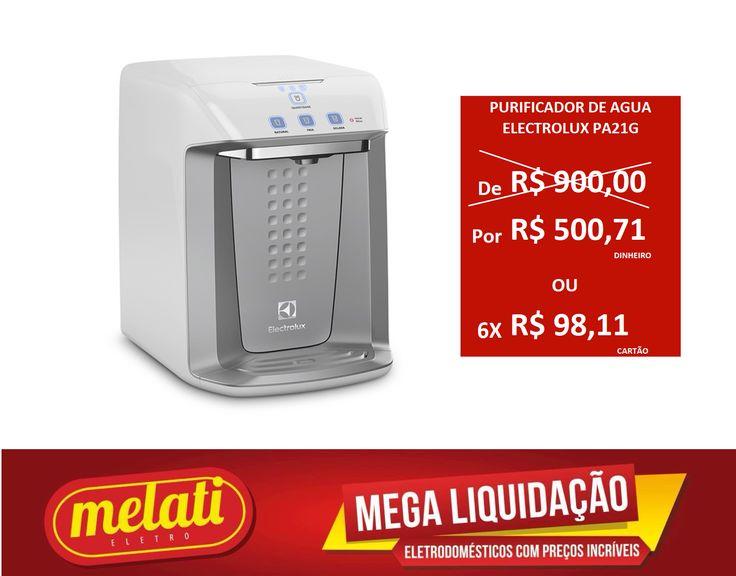 SALDÃO PURIFICADOR DE ÁGUA ELECTROLUX PA21G ========================================== CLASSIFICAÇÃO DO PRODUTO SALDO => https://www.melatieletro.com.br/pagina/nossos-produtos.html  ==========================================  📌 ❶ A͟͟N͟͟O͟͟ D͟͟E͟͟ G͟͟A͟͟R͟͟A͟͟NT͟͟I͟͟A͟͟ CONTRA DEFEITO FUNCIONAL  ==========================================  🚛 F͟͟R͟͟E͟͟T͟͟E͟͟ G͟͟R͟͟A͟͟T͟͟I͟͟S͟͟ consulte as regras do frete grátis ==========================================  📍ENDEREÇO DA LOJA   RUA INGÁ , 247…