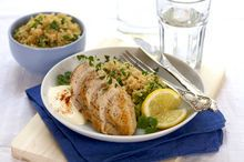 Kyllingfilet med sitron- og squashcouscous